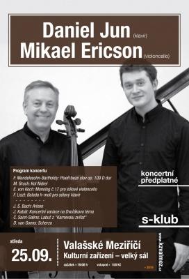 Daniel Jun (klavír) a Mikael Ericson (violoncello)
