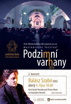 2. koncert Podzimních varhan BALÁSZ SZABÓ