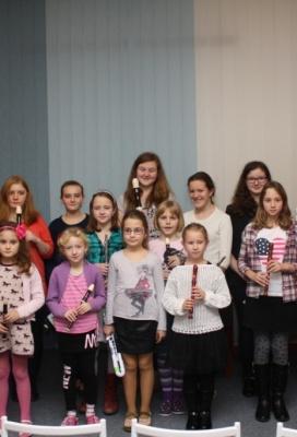 Třídní koncert ze třídy paní učitelky Zuzany Haikerové