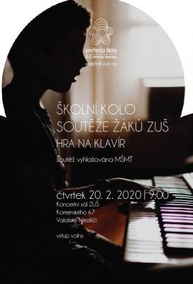 Školní kolo soutěže žáků ZUŠ - hra na klavír