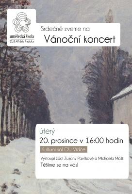Vánoční koncert - pobočka Vidče