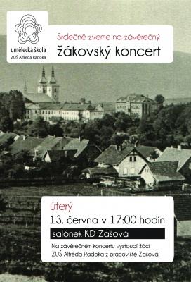 žákovský koncert - pobočka Zašová