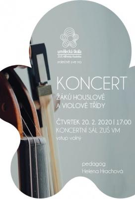 Koncert žáků houslové a violové třídy