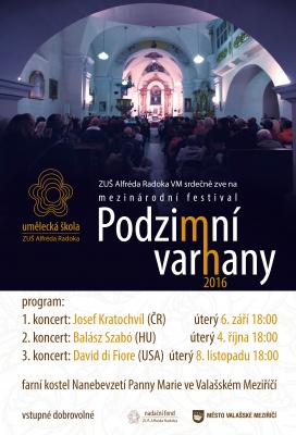 Mezinárodní varhanní festival Podzimní varhany 2016