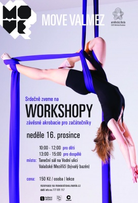 Workshopy závěsné akrobacie s Lucií K. Mičkovou | MOVE Valmez