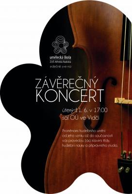 Závěrečný koncert žáků - Vidče