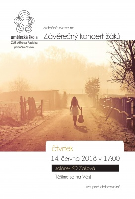 Závěrečný koncert  žáků ZUŠ Alfréda Radoka - pobočka Zašová,