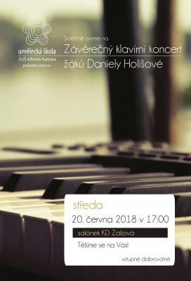 Klavírní koncert - pobočka Zašová
