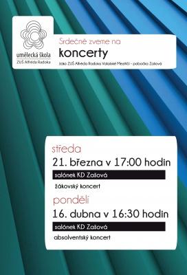 Koncerty žáků - pobočka Zašová