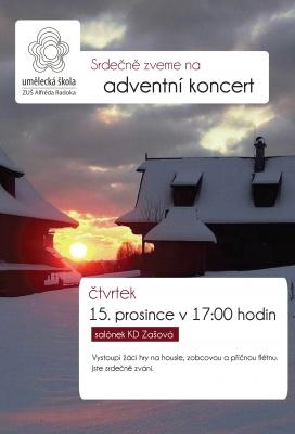 adventní koncert - pobočka Zašová